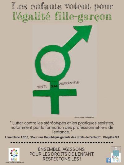 1 mois 1 droit – Mars 1 -  Egalité fille/garçon