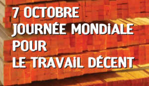 Journée mondiale pour le travail décent - 07 octobre 2017
