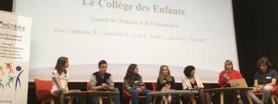 Le Collège des enfants et adolescents à l'honneur lors de la Journée Publique de l'Enfance organisée par le Conseil de l'enfance du HCFEA